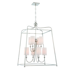 Sylvan Polished Nickel Eight-Light Chandelier by Libby Langdon
