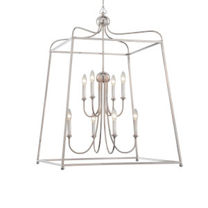 Sylvan Polished Nickel 16-Inch Eight-Light Chandelier