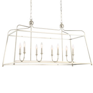 Sylvan Polished Nickel 22-Inch Eight-Light Chandelier