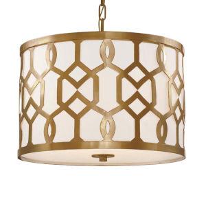 Jennings Aged Brass Three-Light Pendant by Libby Langdon