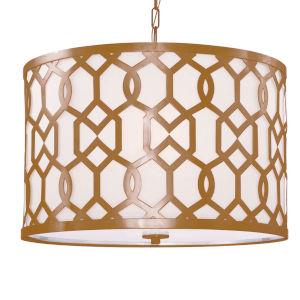 Jennings Aged Brass Five-Light Pendant by Libby Langdon
