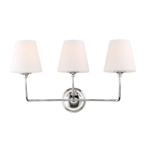Sylvan Three-Light Polished Nickel Bath Light