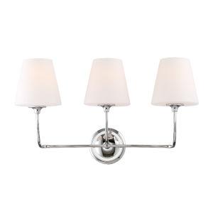 Sylvan Three-Light Polished Nickel Bath Light