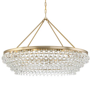 Calypso Vibrant Gold Eight-Light Chandelier