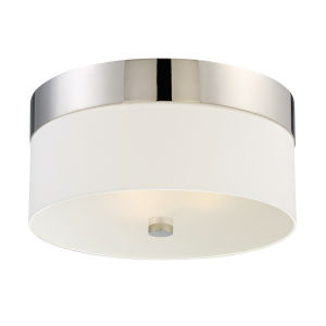 Grayson Polished Nickel Three-Light Flush Mount