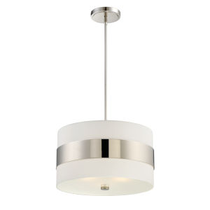 Grayson Polished Nickel Three-Light Pendant