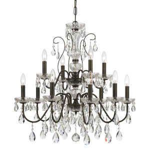 Butler English Bronze 12-Light Chandeliers