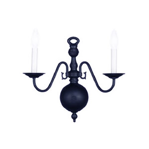 Hot Deal Black Two-Light Sconce