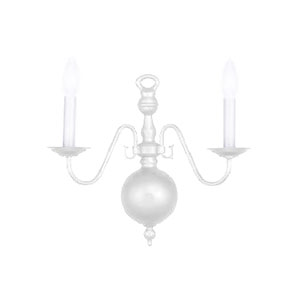 Hot Deal White Two-Light Sconce