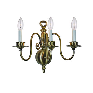 Hot Deal Pewter Three-Light Sconce