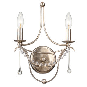 Metro II Two-Light Antique Sliver Wall Sconce