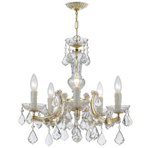 Maria Theresa Gold Five-Light Chandelier