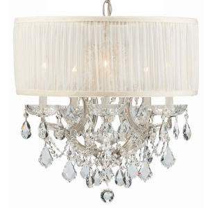 Brentwood Polished Chrome Six-Light Crystal Pendant
