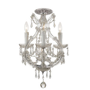 Maria Theresa Polished Chrome Four Light Semi-Flush Mount with Clear Crystal
