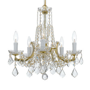 Gold 20-Inch Five-Light Chandelier