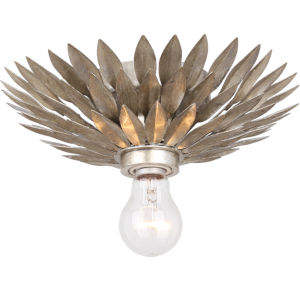 Broche Antique Silver One-Light Semi-Flush Mount