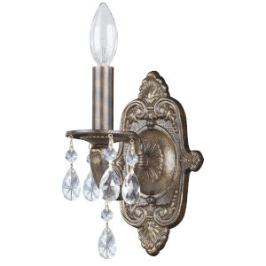 Sutton Venetian Bronze One Light Elements Crystal Wall Sconce