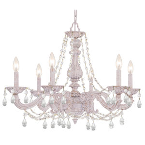 Paris Market Antique White 28-Inch Six-Light Chandelier