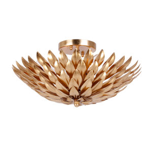 Broche Light Gold Four-Light Ceiling Mount