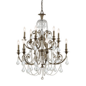 Crystal Twelve-Light Chandelier