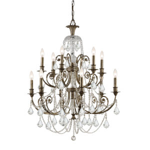 St. Regis Clear Swarovski Spectra Crystal Twelve-Light Chandelier