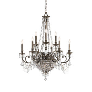 Camelot Two-Tier Center Bowl Chandelier
