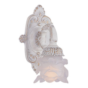 Paris Flea Antique White One-Light Sconce