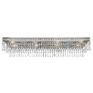 Mercer Olde Silver Eight Light Hand Cut Crystal Bath Fixture