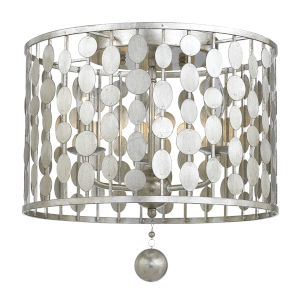 Layla Antique Silver Three-Light Ceiling Mount