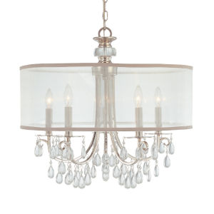 Hampton Polished Chrome Crystal Five-Light Pendant