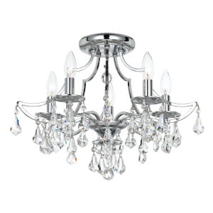 Cedar Polished Chrome Five-Light Semi-Flush Mount