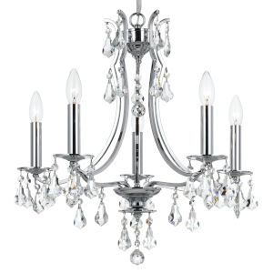 Cedar Polished Chrome Five-Light Mini Chandelier