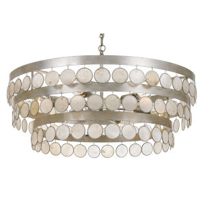 Coco 28-Inch Antique Silver Six-Light Chandelier