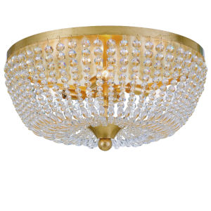 Rylee Antique Gold Four-Light Flush Mount