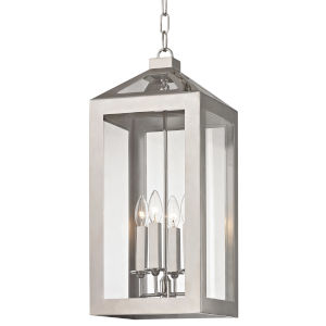 Hurley Polished Nickel Four Light Ten Inch Chandelier