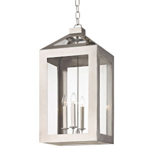 Hurley Polished Nickel Four Light Fourteen Inch Chandelier