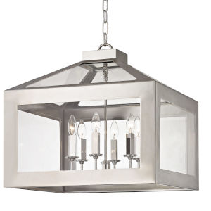 Hurley Polished Nickel Six Light Chandelier