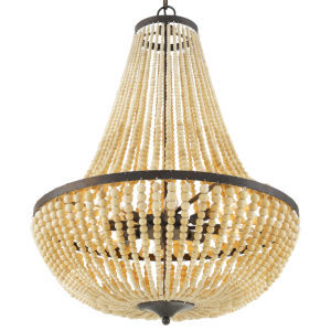Rylee Forged Bronze Eight-Light Chandeliers
