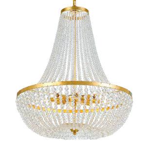 Rylee Antique Gold Eight-Light Chandelier