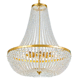 Rylee Antique Gold Eight-Light Chandelier