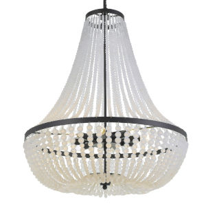 Rylee Matte Black Eight-Light Chandelier