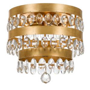 Perla Antique Gold Four-Light Flush Mount