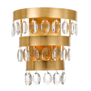 Perla Antique Gold Two-Light Wall Sconce