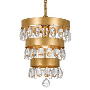 Perla Antique Gold One-Light Mini Chandelier