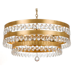 Perla Antique Gold Six-Light Chandelier