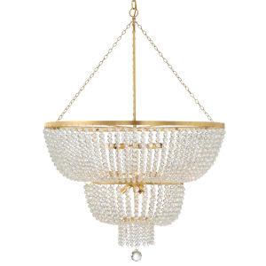 Rylee Antique Gold 32-Inch 12-Light Chandelier