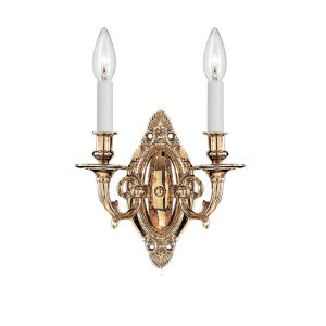 Arlington Polished Brass Two-Light Wall Sconce