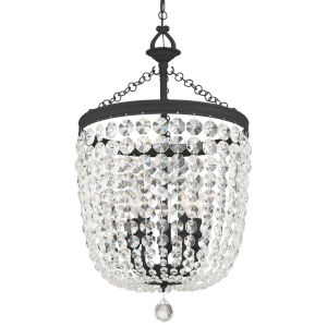 Archer Black Forged Five-Light Chandeliers