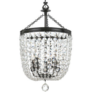 Archer Vibrant Bronze Chandelier with Clear Spectra Crystal