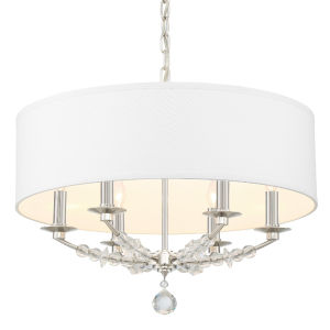 Mirage Polished Nickel 24-Inch Six-Light Chandelier